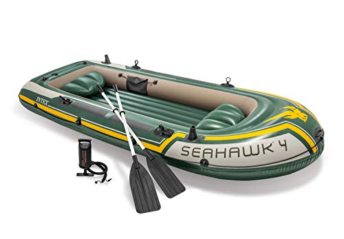 Intex Seahawk 4-delige opblaasbare boot, 351 x 145 x 48 cm, 4-delig, groen