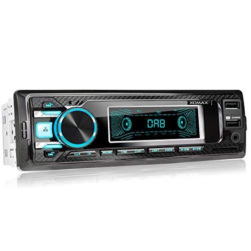 XOMAX XM-RD269 autoradio met geïntegreerde DAB+ tuner, FM RDS, Bluetooth handsfree-set, USB, SD, MP3, AUX-IN, incl. DAB+ antenne,1 DIN