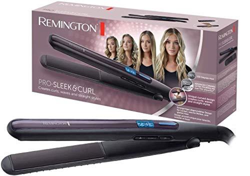 Remington Stijltang Pro Sleek & Curl S6505, Haar Krullen met Stijltang, Steilen En Krullen, Afgeronde platen, 2-in-1-stijltang