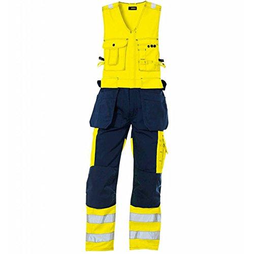 Blakläder 265318043389C60 High Vis Overall zonder mouwen, maat C60, geel/marineblauw