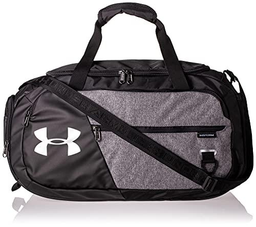 Under Armour Undeniable Duffle 4.0 compacte sporttas, waterafstotende schoudertas, zwart (Graphite Medium Heather/Black/Black (040), S
