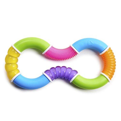 Munchkin Twisty Bijtring 8-Vormig, 1132001.00, 7.5 x 16 x 1.7 cm, Meerkleurig