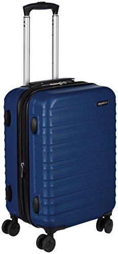 Amazon Basics harde bagagekoffer - 55 cm cabinegrootte, marineblauw