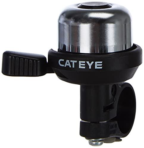 Cateye PB-1000 Wind-Bell fietsbel, zilver/zwart, één maat