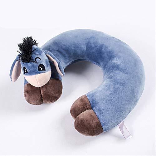 yywl Nekkussen, leuk cartoon-dier-U-vormig geheugen-reiskussen, steunhoofdsteun voor volwassenen en kinderen, op kantoor, in de auto, in het vliegtuig