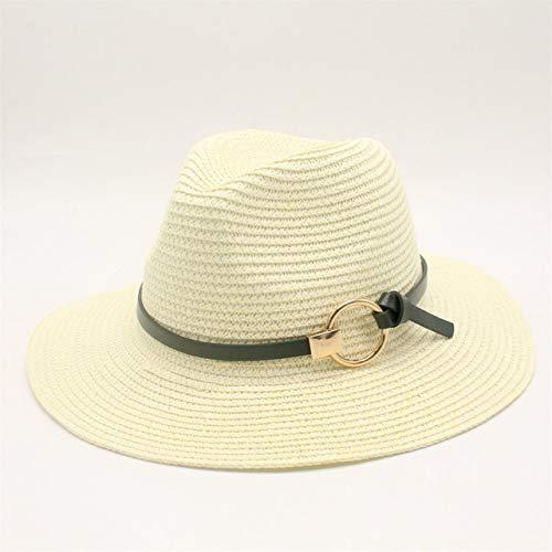 Sqklv Zwarte strohoed herenstrohoed zonnehoed dames strandpaar zonnehoed grote rand hoed zomer