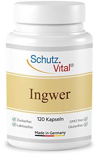 Gember capsules hooggedoseerd 1000 mg per dagelijkse dosis. Productie in Duitsland