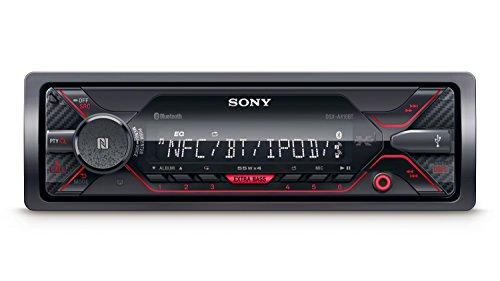 Sony DSXA410BT MP3 Autoradio, Dual Bluetooth, NFC, USB, Aux-Aansluiting, Verlichting, 4 X 55 Watt, Handsfree Bellen, Rood