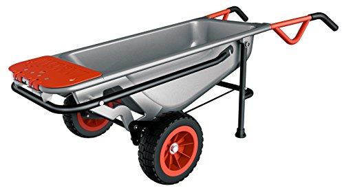 Workx WG050 Aerocart multifunctionele kruiwagen – 8-in-1 functie: steekwagen met massief rubberen banden, tuinkar, draaghulp, vuilniszakhouder enz.