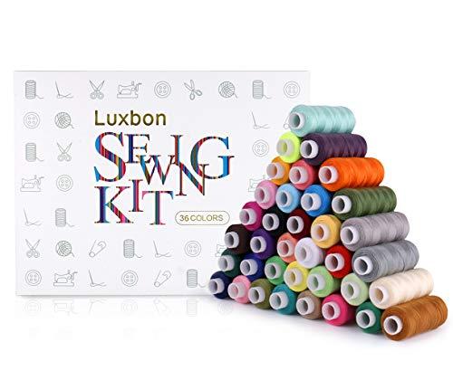 Luxbon 36 Spoelen Naaigaren Polyester Naaimachinegaren Naaiset Naaigarenset Quilten Multi Kleuren 250 Yard
