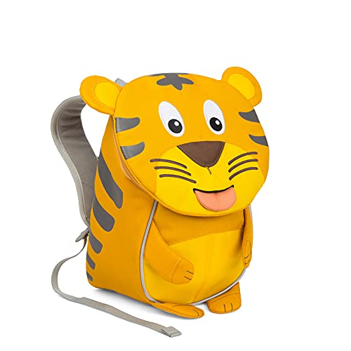 Affenzahn Kleine vriend - kleuterschoolrugzak voor kinderen van 1-3 jaar op de kleuterschool en kinderrugzak voor de kinderdagverblijf -, Tiger - geel, Eén maat, kinderrugzak