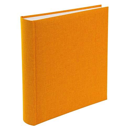goldbuch 31705 fotoalbum, Summertime, 30 x 31 cm, fotoboek met 100 witte pagina's en scheidingsbladen van pergamijn, linnen fotoalbum, herinneringsalbum, geel