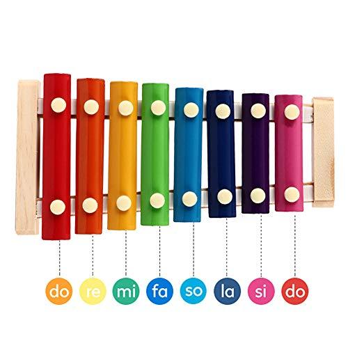DXIA Houten Percussie-instrumenten,Speelgoed voor Baby,Xylofoon Xylophone Musical Instrument Speelgoed,Kinderen Baby Educational Set, Xylofoon Muziekspeelgoed Van Het Meisje en Van de Jongen