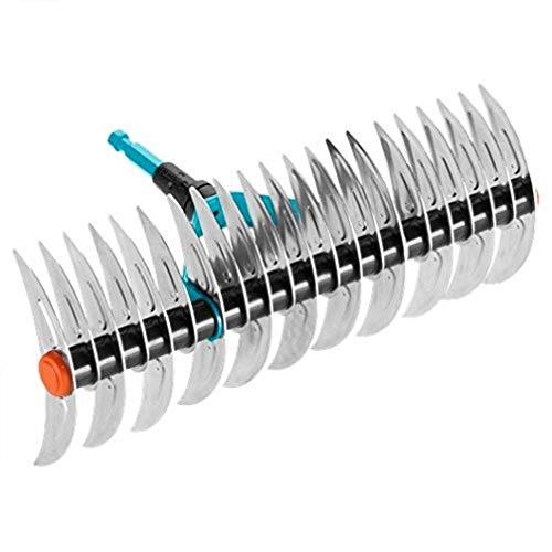 Gardena combisystem verticuteerhark: Hark voor verwijderen van mos en vilt uit gazons, van hoogwaardig kwaliteitsstaal, geschikt voor aanharken van afval en stenen (3392-20), 35x30x28 cm