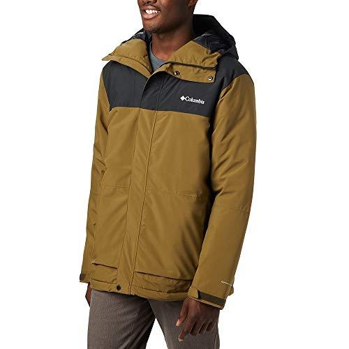 Columbia Heren Horizon Explorer geïsoleerde jas Horizon Explorer, Olive Brown, Zwart, XXL (fabrieksmaat: XXL)