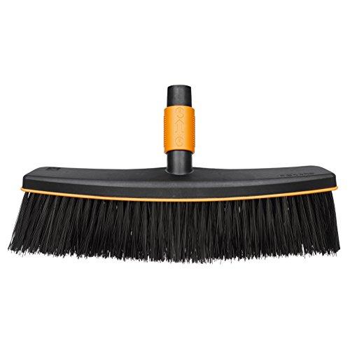 Fiskars Straatbezem, zonder steel, breedte: 38 cm, kunststof, zwart/oranje, QuikFit, 1001416