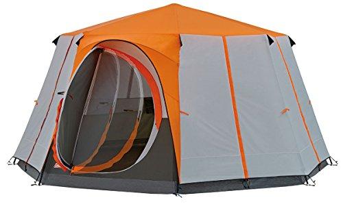 Coleman Achthoekige tent, met grote ramen, met 360 graden zicht, stevige constructie met stalen stangen, volledig geïntegreerd grondzeil, eenvoudige montage, waterdicht