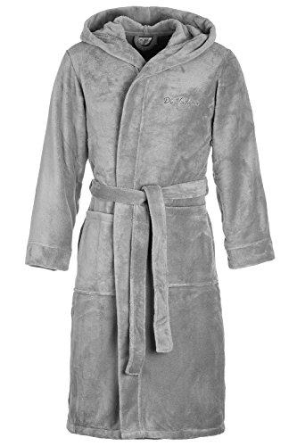 Di Vadini Florence Badjas voor heren, uniseks, met capuchon, ochtendjas, pluizig, nachtkleding van luxe microvezel, Öko-Tex Standard 100, Kimono met kleur en maten naar keuze XXS - 5XL