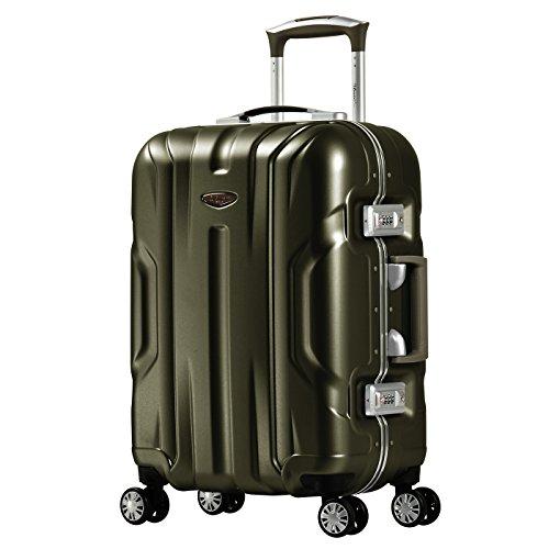 Eminent Handbagage Gold X-dream 54 cm 39 L Aluminium kader Polycarbonaat harde schaal 4 Stille dubbele wielen Bruin