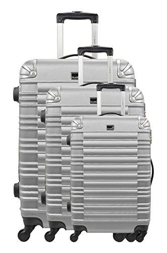 Bluestar trolley-set, stijf, limoen, zilverkleurig