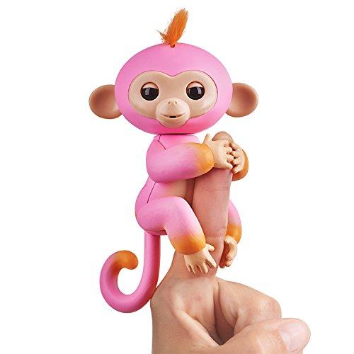 Wow Wee vingerlings tweekleurig aapje, interactief speelgoed, reageert op geluiden, bewegingen en aanrakingen