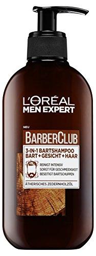 L'Oréal Men Expert Barber Club 3-In-1 Hoofd- En Baardshampoo, met Cederhoutolie, 200 ml
