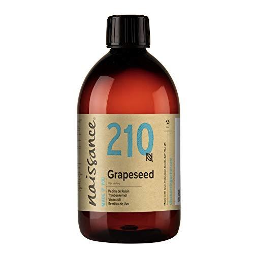 Naissance Grapeseed Oil (nr. 210) 500ml - Natuurlijke moisturiser en conditioner voor haar en huid