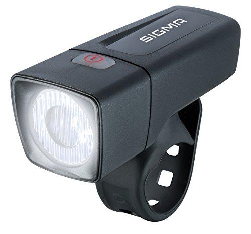 Sigma Sport Aura 25 Led-fietsverlichting, 25 lux, op batterijen werkende fietslamp, StVZO-toegelaten, zwart