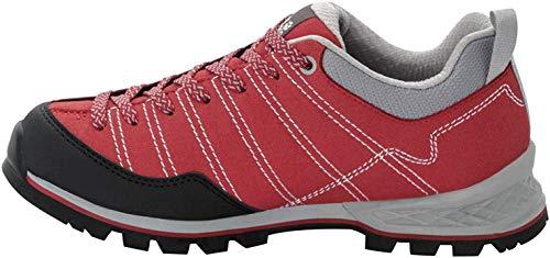Jack Wolfskin Scrambler Low W Outdoorschoenen voor dames, Rood Light Grey 2106, 40 EU
