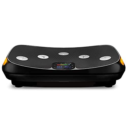 Beursprimeur 2021! 4D trilplaat VP400 in gebogen design + trainingsvideo's, Color Touch Display, enorm oppervlak, smart LED-technologie + remote-watch, trainingsbanden, oefenposter & beschermmat