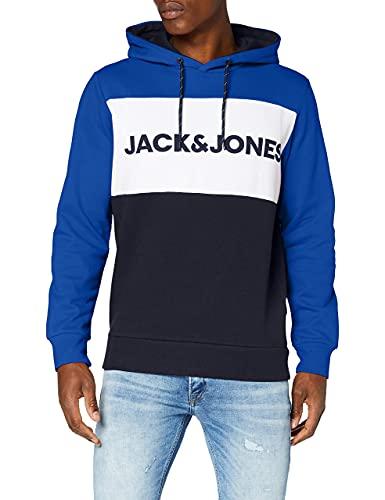 JACK & JONES Heren Jjelogo Blocking Hood Pullover Sweater