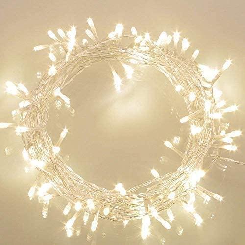 Koopower Fairy Lights 10M 100 LED Batterij Werkt Waterdicht met 8 Modi Lichten String Lights voor Indoor Outdoor Xmas Thuis Party Slaapkamer Tuin Verlichting, Warm Wit