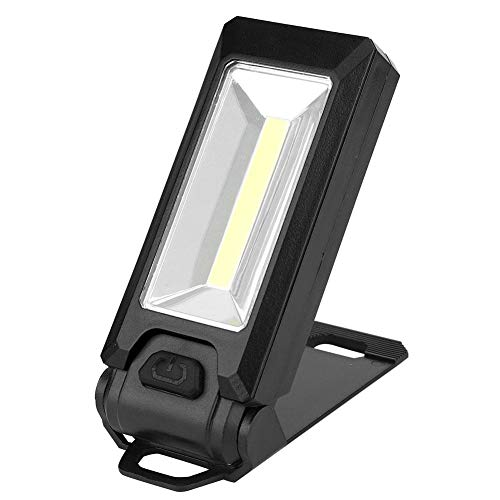 3W COB LED-werklamp Zaklamp Zaklamp Zaklamp Magnetische haak Hanglamp voor kamperen in de buitenlucht(zwart)