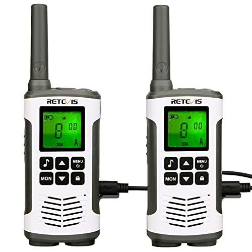Retevis RT45 Walkie Talkie 16 Kanalen PMR 446 Portofoons VOX Zaklamp Oplaadbare Walkietalkie USB-oplaadkabel (1 paar)