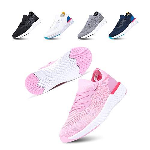 Hardloopschoenen heren gymschoenen dames veters sneaker antislip ademend lichte vrijetijdsschoenen outdoor fitness straatloopschoenen zwart blauw grijs roze wit EU36-EU47