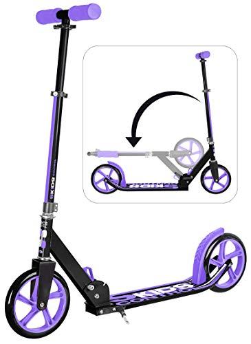 STAMP Meisjes JB200002 FOLDABLE verstelbare scooter, 200 lila met kickstand