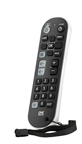 One For All Zapper+ URC6820 Universele afstandsbediening voor tv en smart tv-set, top box en audioapparaten, grote knoppen, werkt gegarandeerd met alle merken van de fabrikant
