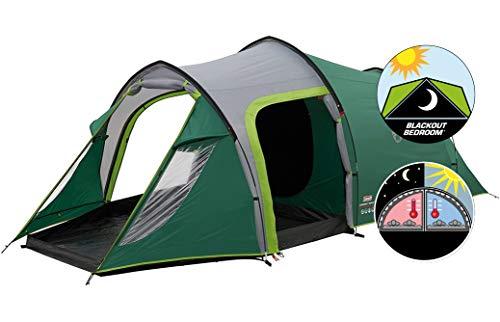 Coleman Chimney Rock 3 Plus Tent, 3-persoons tunneltent, 3-persoons campingtent, grote verduisterde slaapcabine blokkeert tot 99% van het daglicht, waterdicht WS 4.500 mm