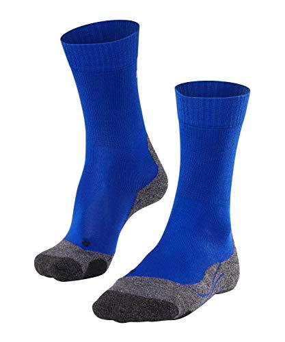FALKE Wandelsokken TK2 Cool Lyocell heren zwart blauw vele andere kleuren dunne versterkte trekkingsokken zonder patroon met gemiddelde voering lang verkoelend voor wandelen, 1 paar
