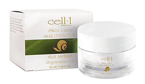 cell-1 Anti-rimpel slakkengel, crème tegen puistjes, littekens, acne, onzuivere huid en ouderdomsvlekken, regenererende en reparerende slakkencrème, slakkenextract, gezichtscrème, snail-huidgel, 50 ml