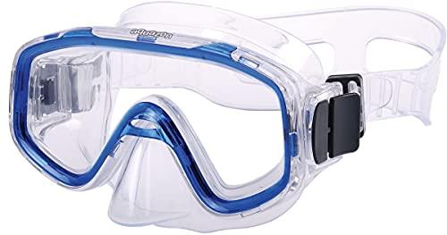 AQUAZON FUN Junior Kids snorkelbril, duikbril, zwembril, duikmasker voor kinderen, van 3-7 jaar, zeer robuust, goede pasvorm, colour:Blauw transparant
