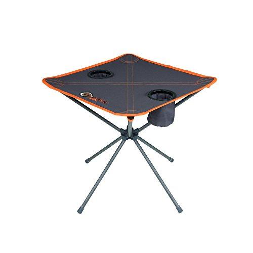 Portal Outdoor draagbare, inklapbare campingtafel Zoe met twee bekerhouders en gratis draagtas