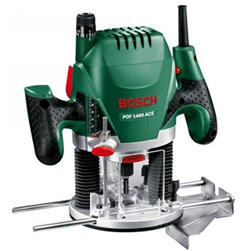 Bosch Home And Garden POF 1400 ACE Bovenfrees 1400 W (3x Spantang, Frees, Parallelaanslag, Zuigadapter, In Koffer), Groen