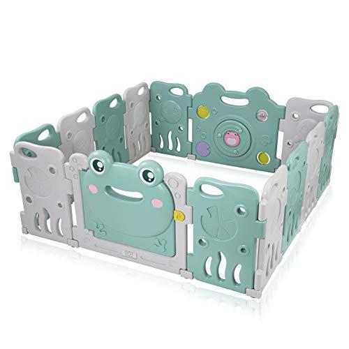 Baby Vivo Baby Box Tweelingbox Kruipbox Krabbelpark Speelbox Veiligheidshek Playpen Baby Kunststof - Fridolin