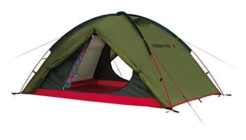 High Peak Woodpecker 3 koepeltent, campingtent, trekkingtent voor 3 personen, 2 ingangen, opbergruimte, permanente ventilatie, 3000 mm waterdicht, bescherming tegen muggen, windstabil