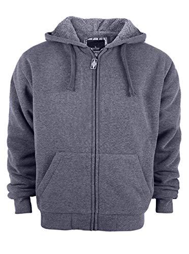 SwissWell Herenjas Windproof Dikke Warm Active Coat Full Zip Jacket Outdoor Countrywear Pullover for Man Sweatshirt Top Heren Hoodie met zakken in Premium Kwaliteit