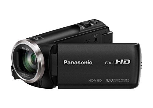 Panasonic HC-V180EG-K Full HD Camcorder (1/5, 8 inch Sensor, Full HD, 50X Optische Zoom, 28 Mm Groothoek, Opt. 5-Assige Beeldstabilisator Hybrid Ois+), Zwart, 11.6 x 5.3 x 5.9 cm