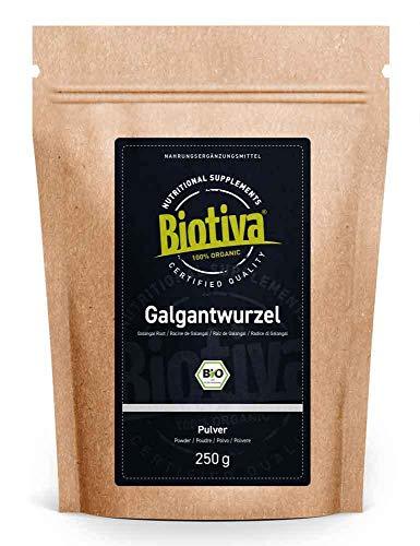 Galangal wortel organische grond 250g - Alpinia galanga - veganistisch - Galangal poeder - Gebotteld en gecontroleerd in Duitsland (DE-ÖKO-005)