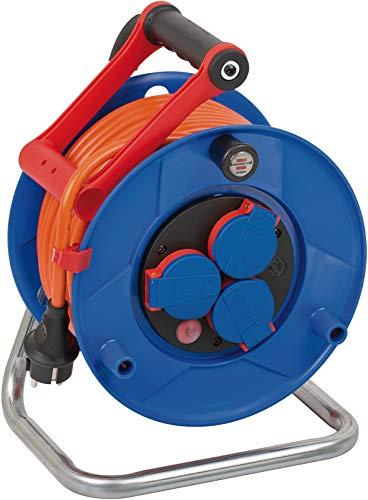 Brennenstuhl Garant IP44 Kabelhaspel ( 25 m kabel in oranje, speciaal kunststof, voor gebruik buiten, Made in Germany)