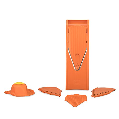 Börner V1 ClassicLine Starter mandoline slicer groentesnijder: Groente snijden, schijfjes, blokjes, 5-delige set, oranje